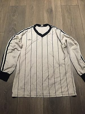 Adidas Match Worn Long Sleeved Shirt 80s No.5 Small Rare And Vintage