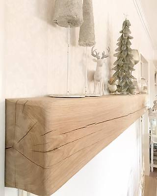Solid Rustic Oak Beam Mantle, Lintel, Fireplace Oak Beam, Shelf – free fixings