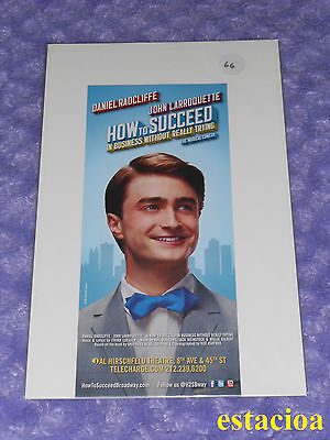 How to Succeed in Business Original Broadway Flyer, NEW, Daniel Radcliffe