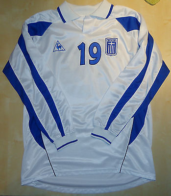 Greece National Team 2002-03 Match Worn Shirt For Euro 2004 Qualifying Matches