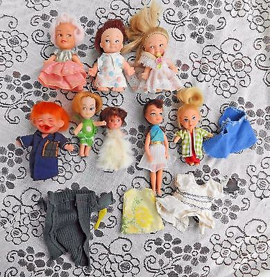 8 Vintage 1965 -67 Uneeda Small Dolls Peewee Tiny Time Teen Dolly Darling More