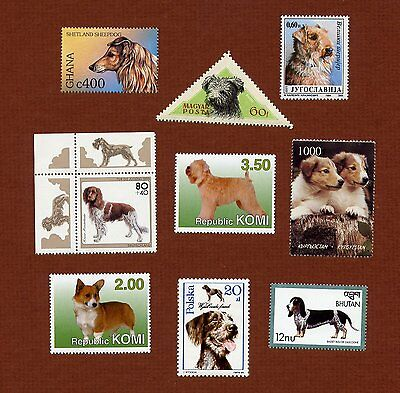 50 dog postage stamps, all different, all MNH
