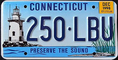 "CONNECTICUT "" LIGHTHOUSE "" Graphic License Plate"