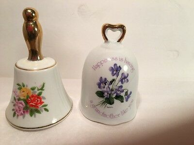 Lot of 2 Bells Collectibles Rose Happiness is having a Grandmother like you.
