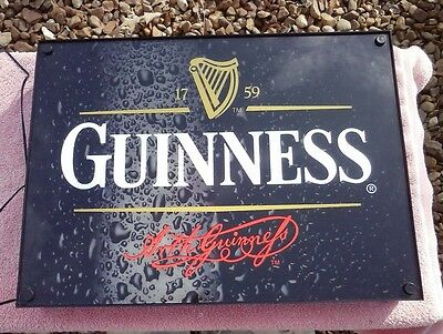 GUINNESS  1759 Trademark Lighted Beer Sign 18X13