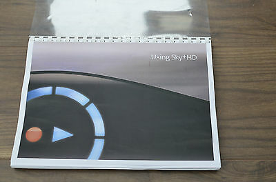 SKY+ HD  User guide Instruction manual  *** FULL COLOUR PRINTED***