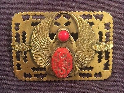 Antique Czech Neiger Brothers Egyptian Revival Chinese Brass Art Deco