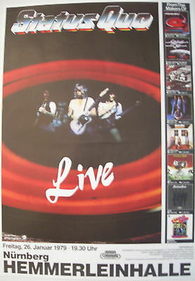 Status Quo Concert Tour Poster 1979 If You Can't Stand The Heat...