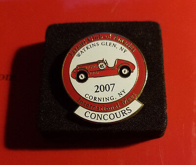 "FERRARI Club of America 2007 Annual Meet ""Concours"" Lapel Pin FCA"