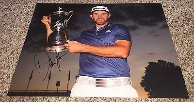 Dustin Johnson Signed 11x14 Photo 2016 US Open Oakmont Win with proof