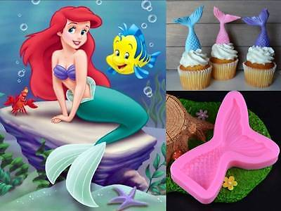 Mermaid Tail Silicone Cake Chocolate Soap Crayon Ice Mold Mould Party Novelty