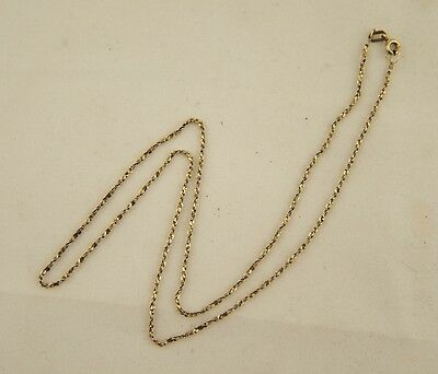 Hallmarked solid 9ct 375 yellow gold Italian fancy link rope twist 50cm chain