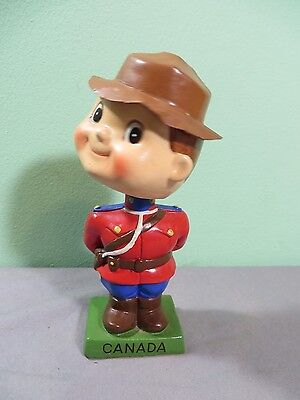 Vintage Canadian Mountie Bobblehead Nodder Canada Figurine Japan Police