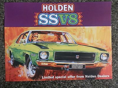 1972 Holden Hq Ss  Sales Brochure  100% Guarantee