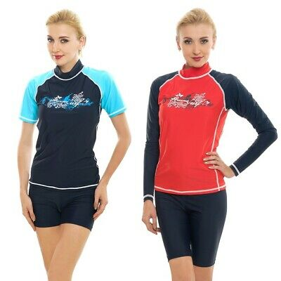 Ladies Rash Vest Surf Wear Top Swim Shirts Surfing Guard Women Swimwear Swimsuit