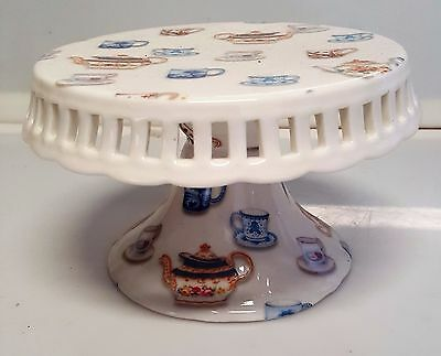 SMALL PEDESTAL CAKE STAND FOR CUPCAKES OR SMALL CAKE - 15cm DIAMETER