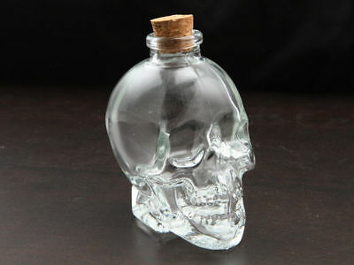 WA Stock 6 Skull bottles with cork stopper assorted sizes glass make your own sa