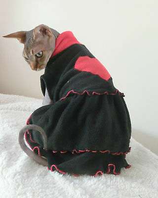heart DRESS cat top for a Sphynx cat for Katze, cat clothes, HOTSPHYNX clothes