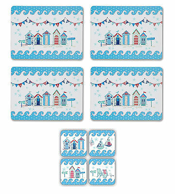 Cooksmart Beside the Sea Placemats & Coasters Set of 4 Tablemat Table Mat Drink