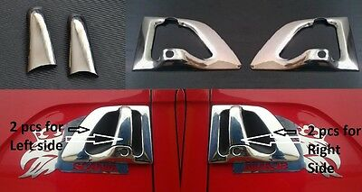Chrome Mirror Stainless Steel Metal Door Handle Covers for Scania R/P/G Set of 2