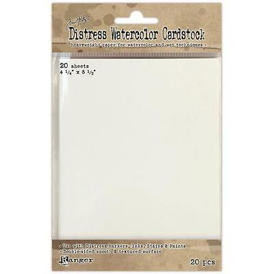 Tim Holtz Distress Watercolour Cardstock - 4.25 x 5.5 inch - Pack of 20 sheets