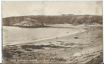 Anglesey Cemaes Bay The Bathing Place Booklet PPC by ED & SB Used 1915