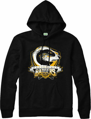 Harry Potter Hoodie, HUFFLEPUFF BADGERS  Hoodie, Inspired Design Top