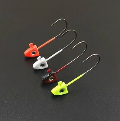 8 X Multi Coloured Fish Eye Jig Heads 1.5g For Rubber Lures Fishing Pike Perch