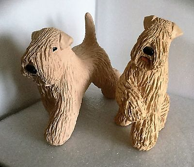 Two Wheaten Terriers - Large Ceramic Models