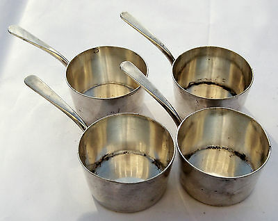 Rarely found Christofle 4 piece Silver Plate Individual Sauce Pots / Pans