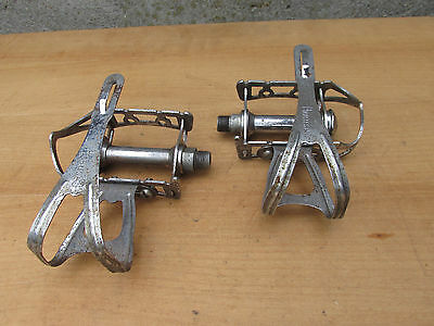 NOTARIO ANCIEN VINTAGE PEDALES VELO COURSE ROAD RACING BICYCLE PEDALS 14x125