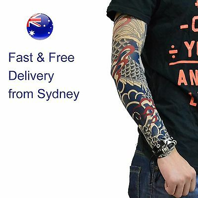 Fish Art Tattoo Pair - Temporary Tatoo Sleeve Arm Design - Fast & free delivery