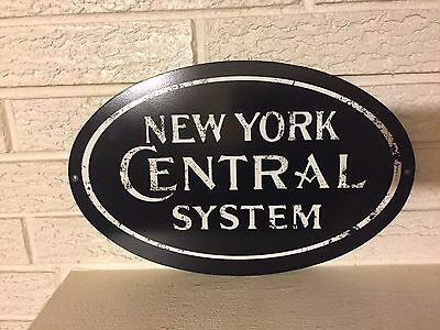"""New York Central Railroad Logo Steel Sign New 14"""" x 9"""""""