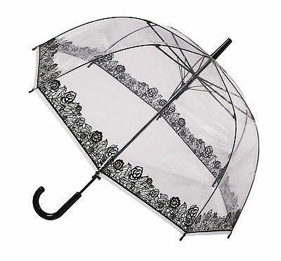 Soake Clear Dome Umbrella - Black Lace