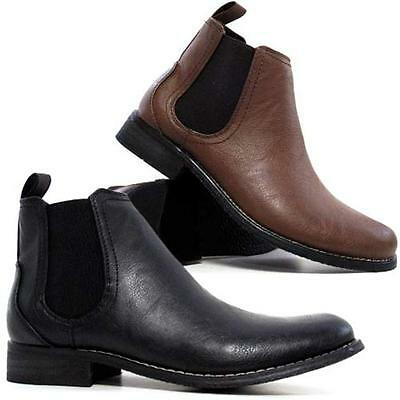 Mens Chelsea Boots New Dealer Work Ankle Biker Smart Formal Boots Shoes Size