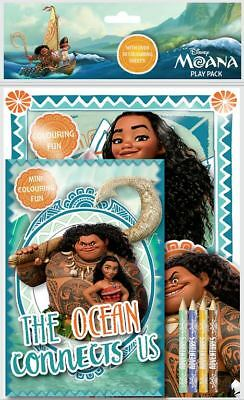 Disneys Moana Play Pack Colouring Pads Pencils Childrens Activity Set Girls Kids