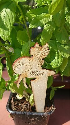 10 x Personalised garden plants/seeds/plugs 121342 wooden herb vegetable markers