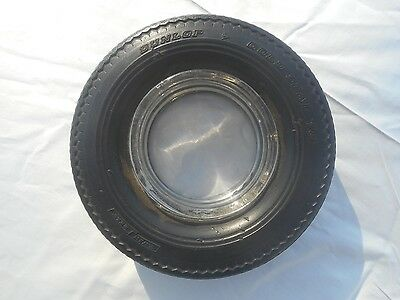 """Nice Vintage Dunlop Gold Seal """"78"""" Twin Belt Rubber Tire Ashtray"""