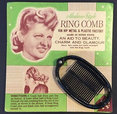 Modern Style Oval Black RING COMB -AN AID TO BEAUTY CHARM AND GLAMOUR