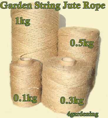 Garden String Jute Twine Horticultural Rope Ball Line Packthread Various Sizes