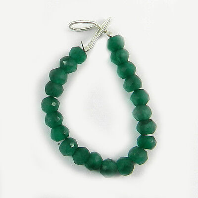 21 pcs 5.5mm Green Onyx Roundel faceted gemstone beads 4 inch for Jewelry ER2908