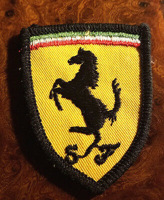 FERRARI Vintage Small Scudeia Shield Embroidered Patch