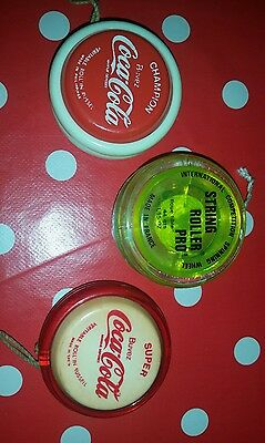 Coca Cola / Yoyos /  Collection / Lot / Roll'in Russel /string Rollers Pro'