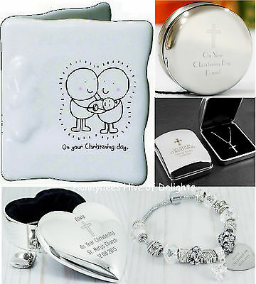 PERSONALISED CHRISTENING TRINKETS Unusual Gift Ideas For New BABY Boy Girls Day