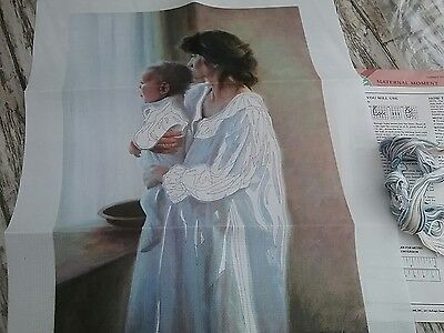 Printed embroidery picture kit mother and child