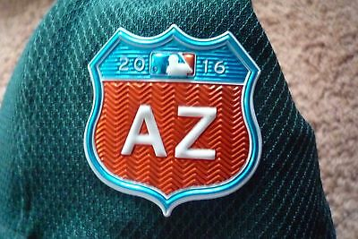 JED LOWRIE GAME-USED HAT A's  AZ 2016 MLB HZ140236