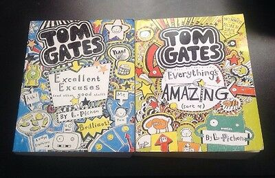 2 X Tom Gates Books (Excellent Excuses & Everything's Amazing)