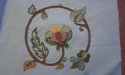 Pretty Completed Embroidery Piece