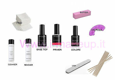KIT SEMIPERMANENTE UNGHIE SMALTO MESAUDA MILANO GEL POLISH 5ml SMALTI