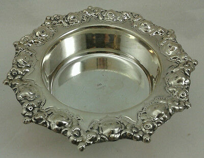 "small Candy Nut Tray - Flower Design - Sterling Silver 925 - 62 g - 5 "" diameter"